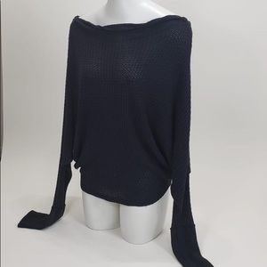 Free People Gray Top Long Sleeve size Medium